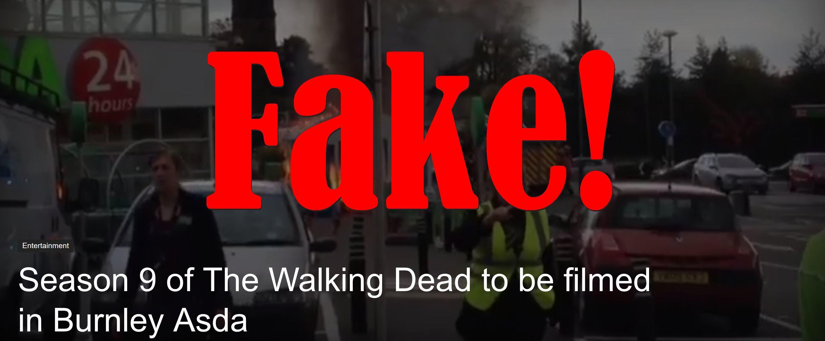 Fake News: Season 9 of The Walking Dead NOT To Be Filmed in Burnley Asda