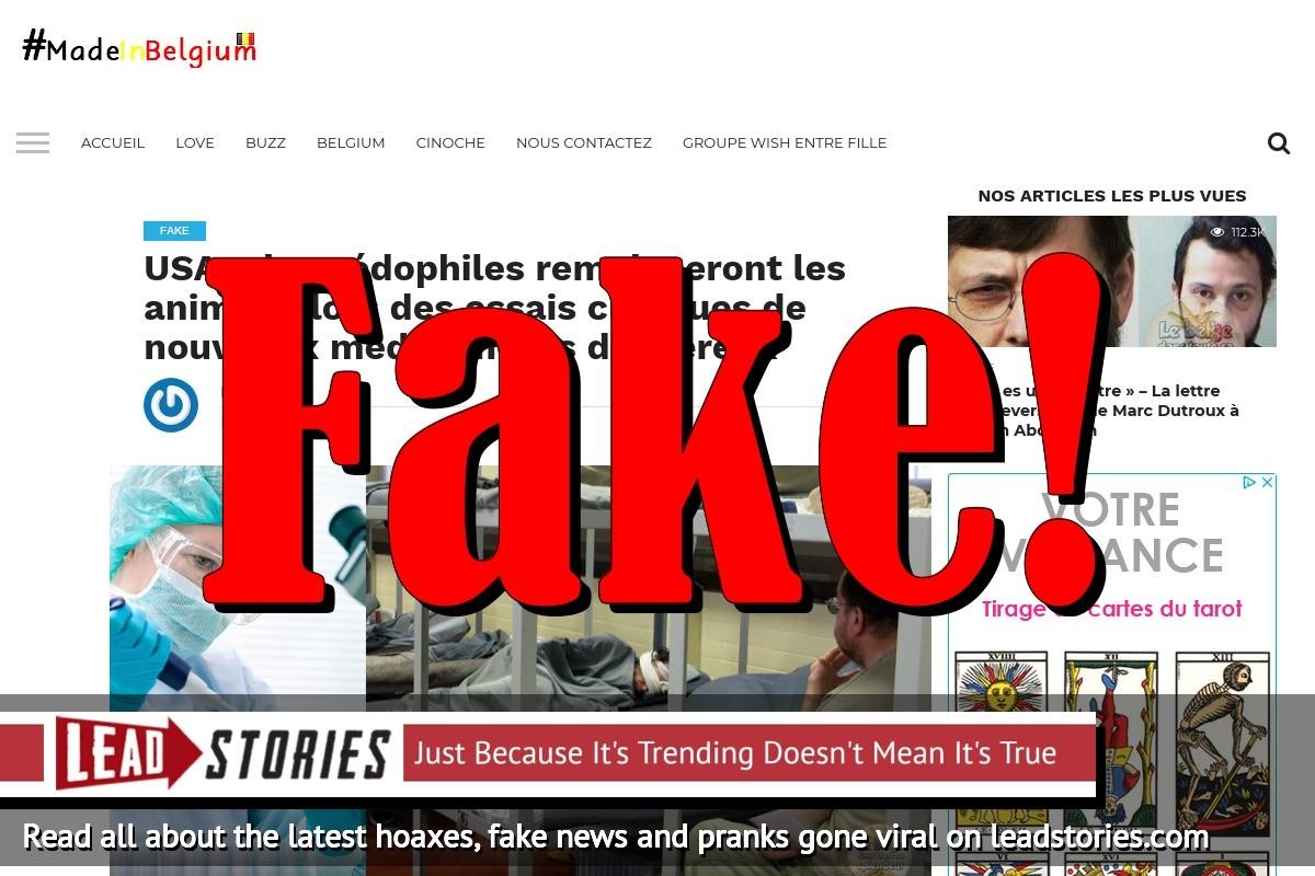 Screenshot of https://madeinbelgium.me/2018/03/16/usa-des-pedophiles-remplaceront-les-animaux-lors-des-essais-cliniques-de-nouveaux-medicaments-dangereux/