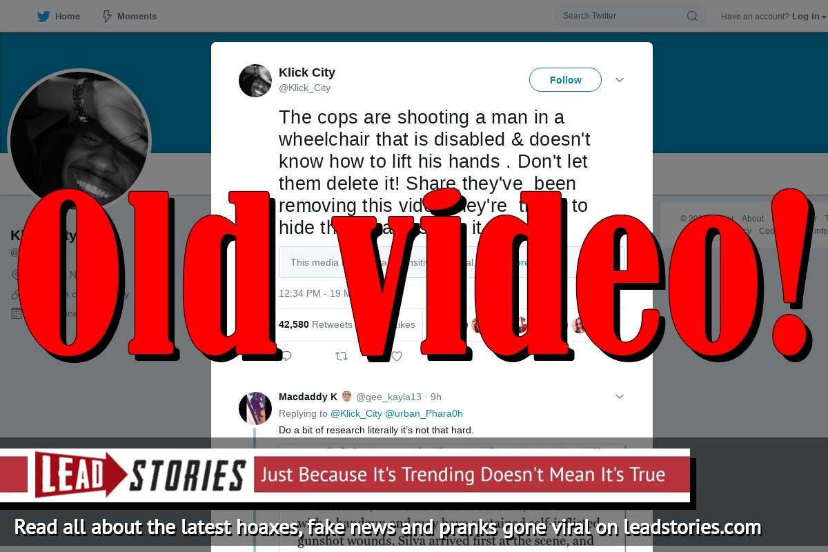 Fake News: Cops Are NOT Shooting a Man In a Wheelchair Who Doesn't Know How To Lift His Hands