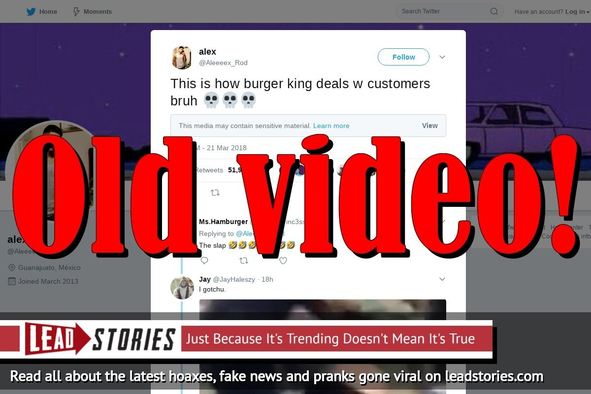 Fake News: This Is NOT How Burger King Deals With Customers