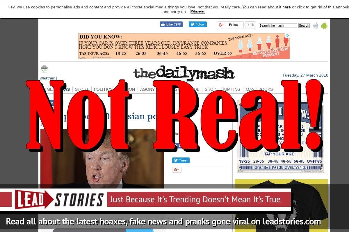 Fake News: Trump Did NOT Expel 60 Russian Porn Stars