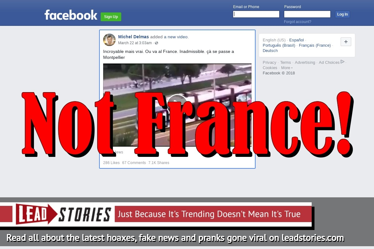 Fake News: Video Does NOT Show Praying Muslim Blocking Tram In Montpellier, France