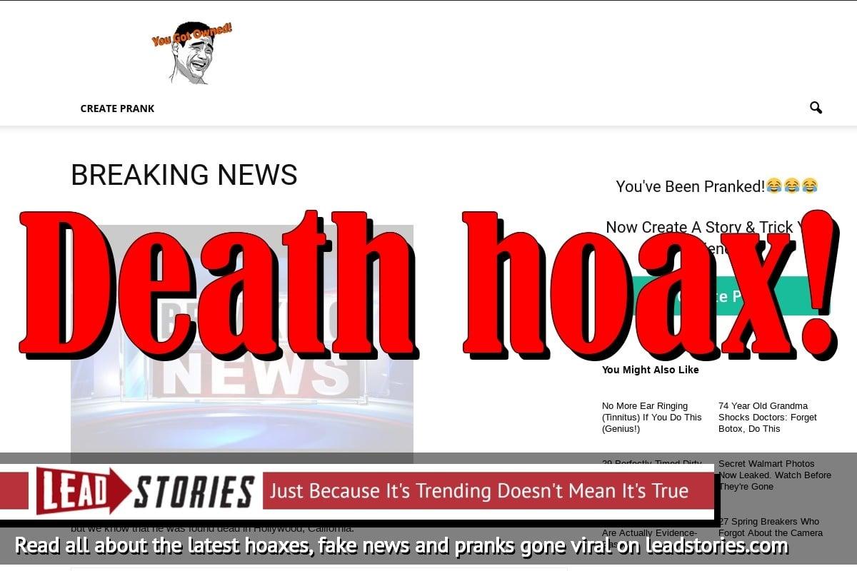 Fake News: Rapper 6ix9ine Was NOT Shot Dead Last Night