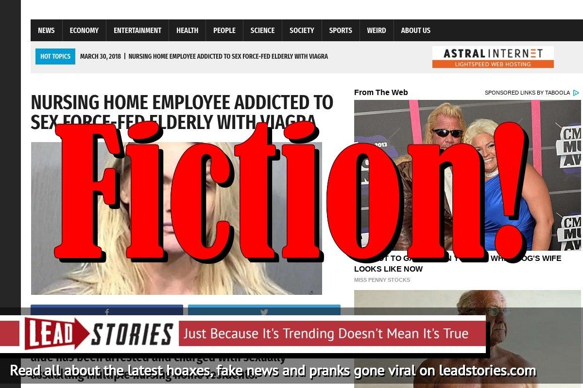 Screenshot of http://worldnewsdailyreport.com/nursing-home-employee-addicted-to-sex-force-fed-elderly-with-viagra/