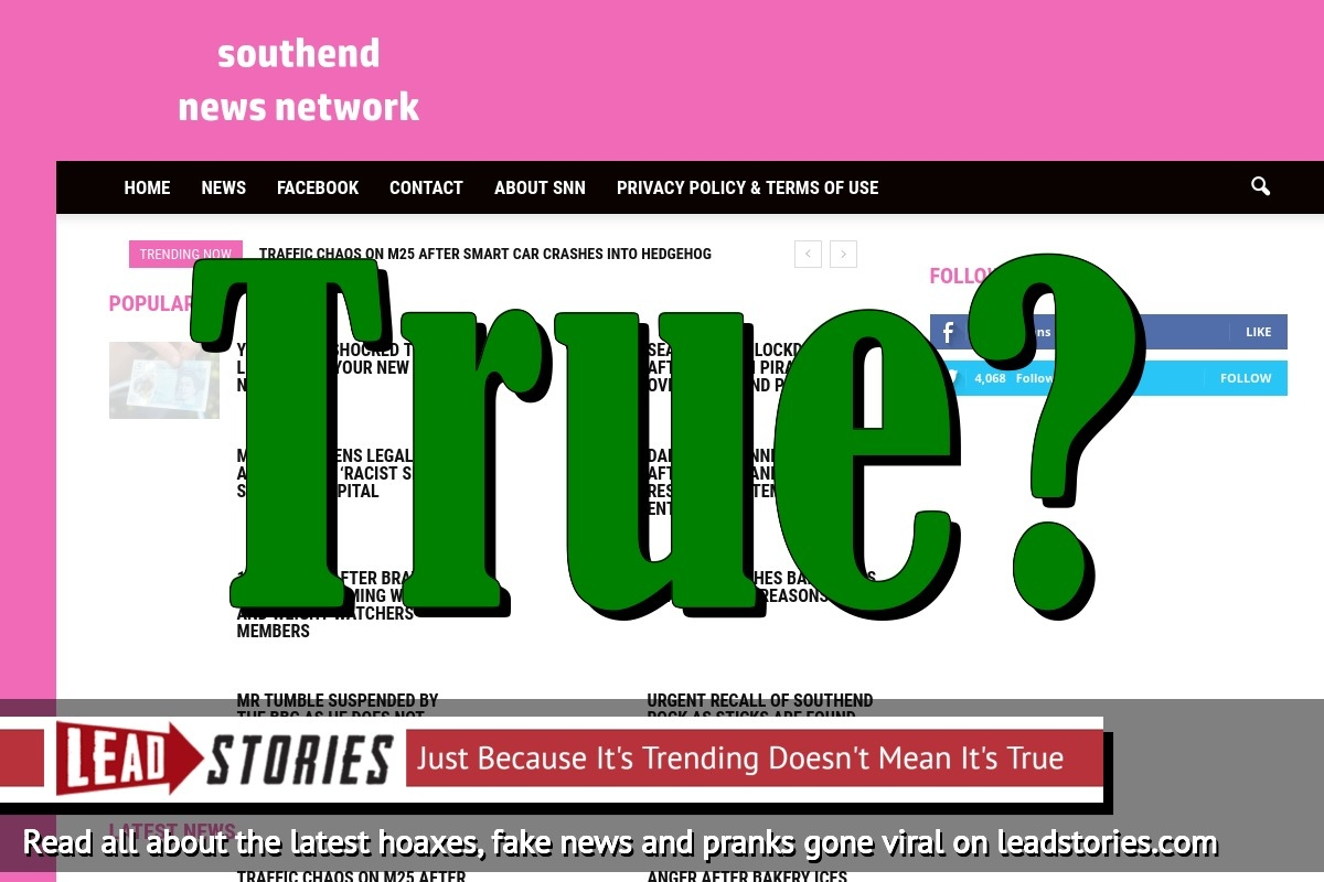 Screenshot of http://www.southendnewsnetwork.net/