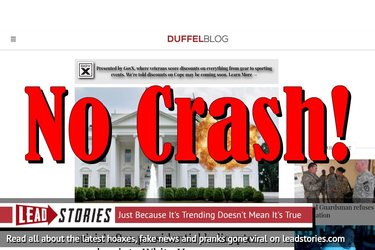 Screenshot of https://www.duffelblog.com/2018/05/pentagon-says-military-aviation-not-a-crisis-after-presidential-helicopter-crashes-into-white-house/