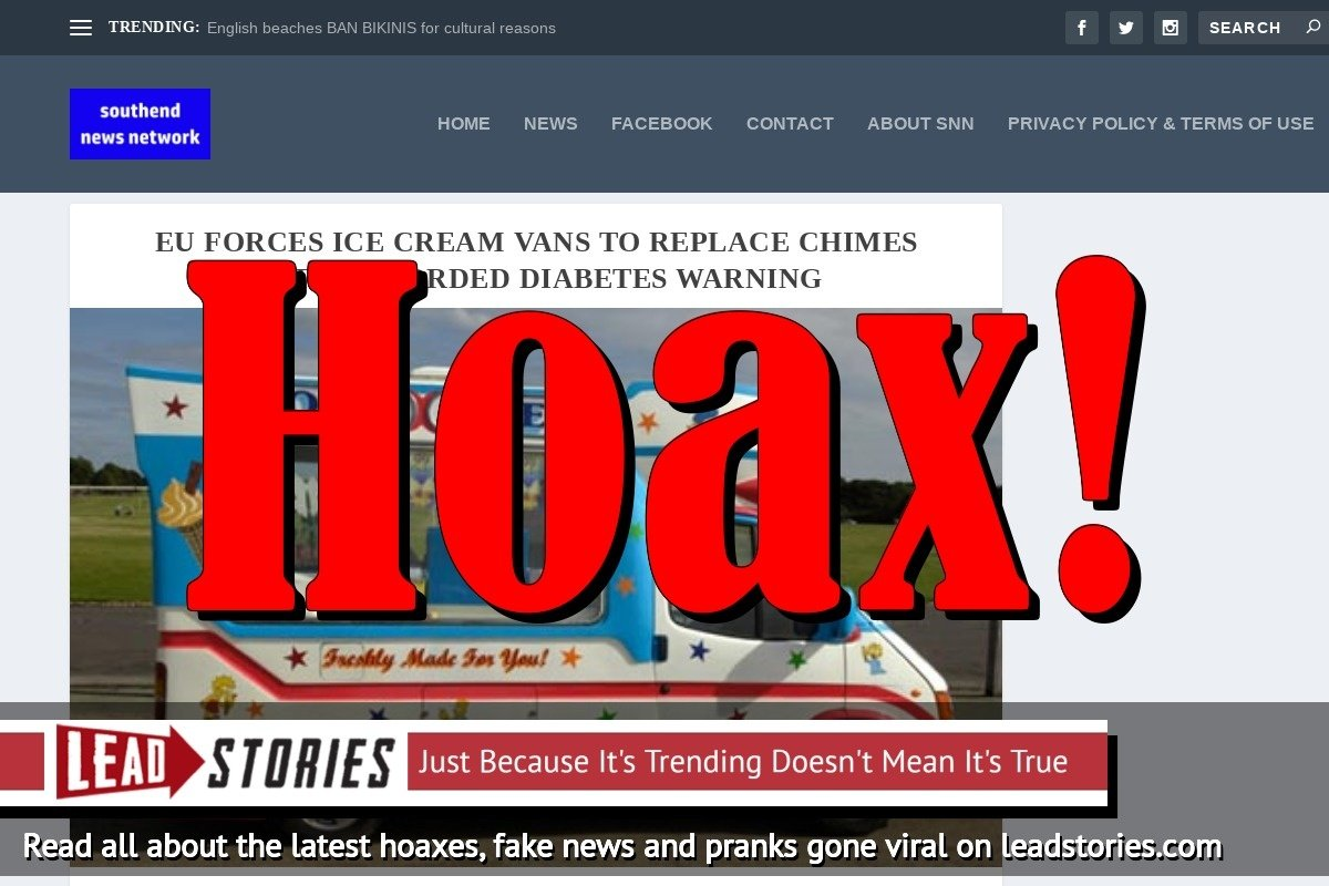 Screenshot of http://southendnewsnetwork.net/news/eu-forces-ice-cream-vans-to-replace-chimes-with-recorded-diabetes-warning3/