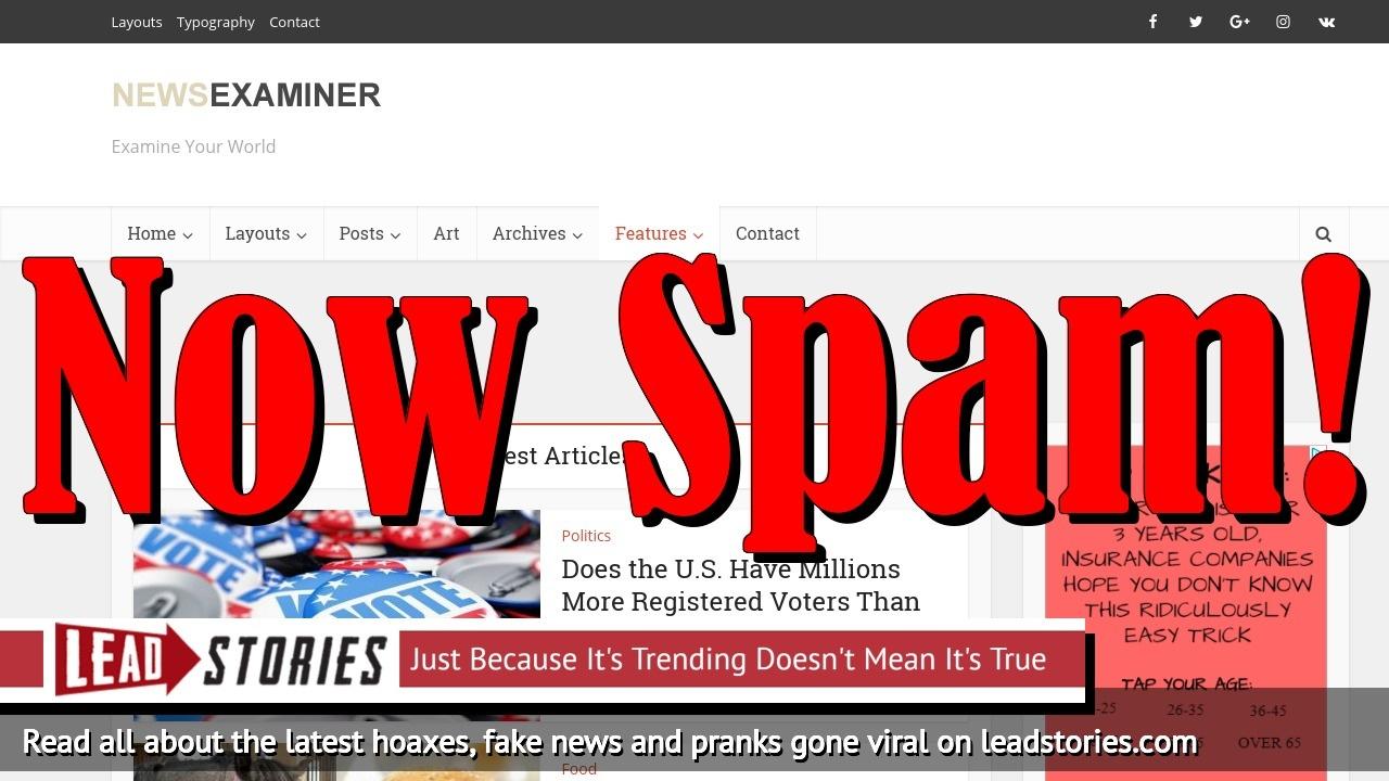 Screenshot of http://newsexaminer.net/