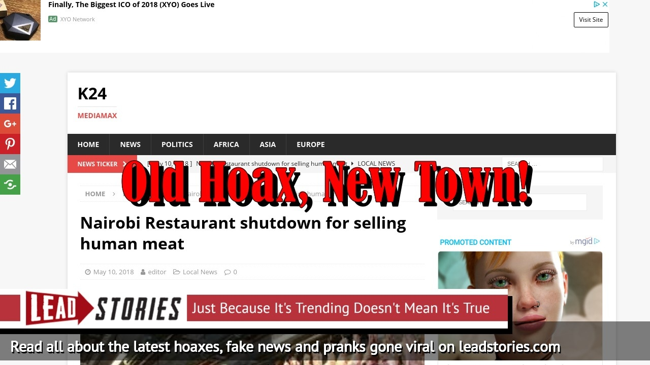 Screenshot of http://www.k24-news.com/nairobi-restaurant-shutdown-for-selling-human-meat/