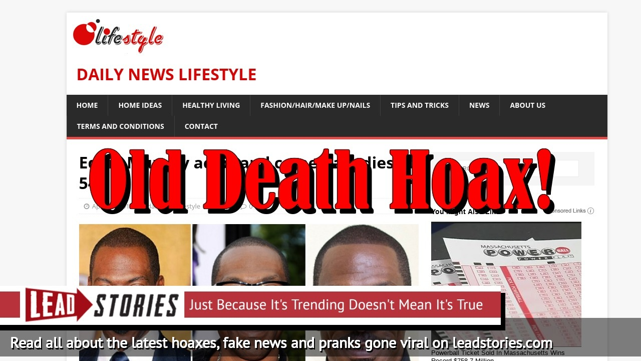 Screenshot of http://www.dailynewslifestyle.com/eddie-murphy-actor-and-comedian-dies-at-54/