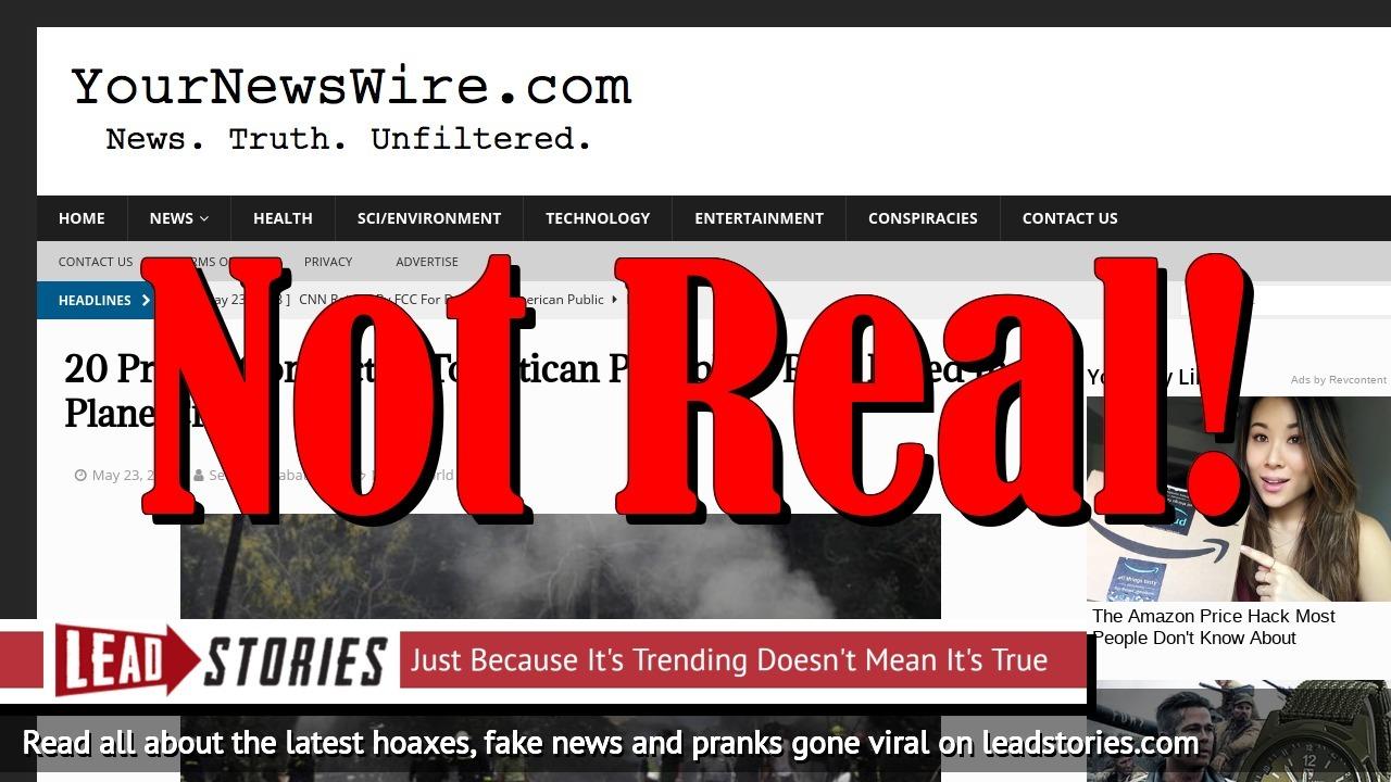Screenshot of https://yournewswire.com/20-priests-pedophile-ring-plane-crash/