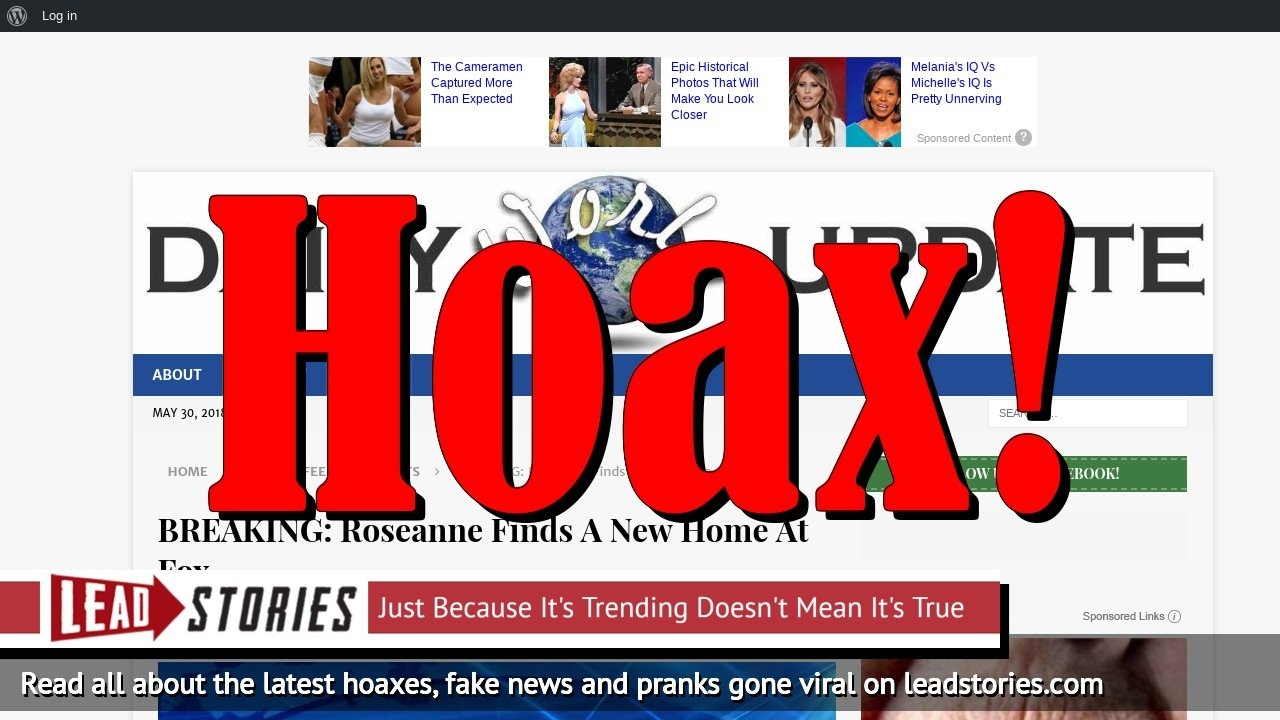 Fake News: Roseanne Did NOT Find A New Home At Fox