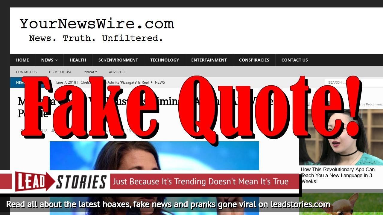 Screenshot of https://yournewswire.com/melinda-gates-discriminate-white-people/