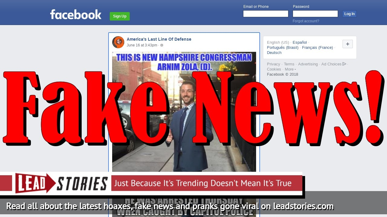 Fake News: New Hampshire Congressman Arnim Zola Did NOT Deface Presidential Limousine With Swastikas