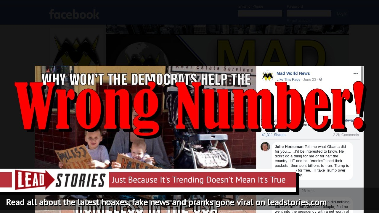 Fake News: Democrats Will NOT Help 2,483,539 Homeless Children In