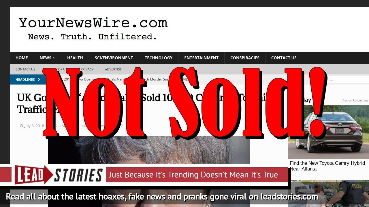 Screenshot of https://yournewswire.com/uk-govt-sold-children-traffickers/