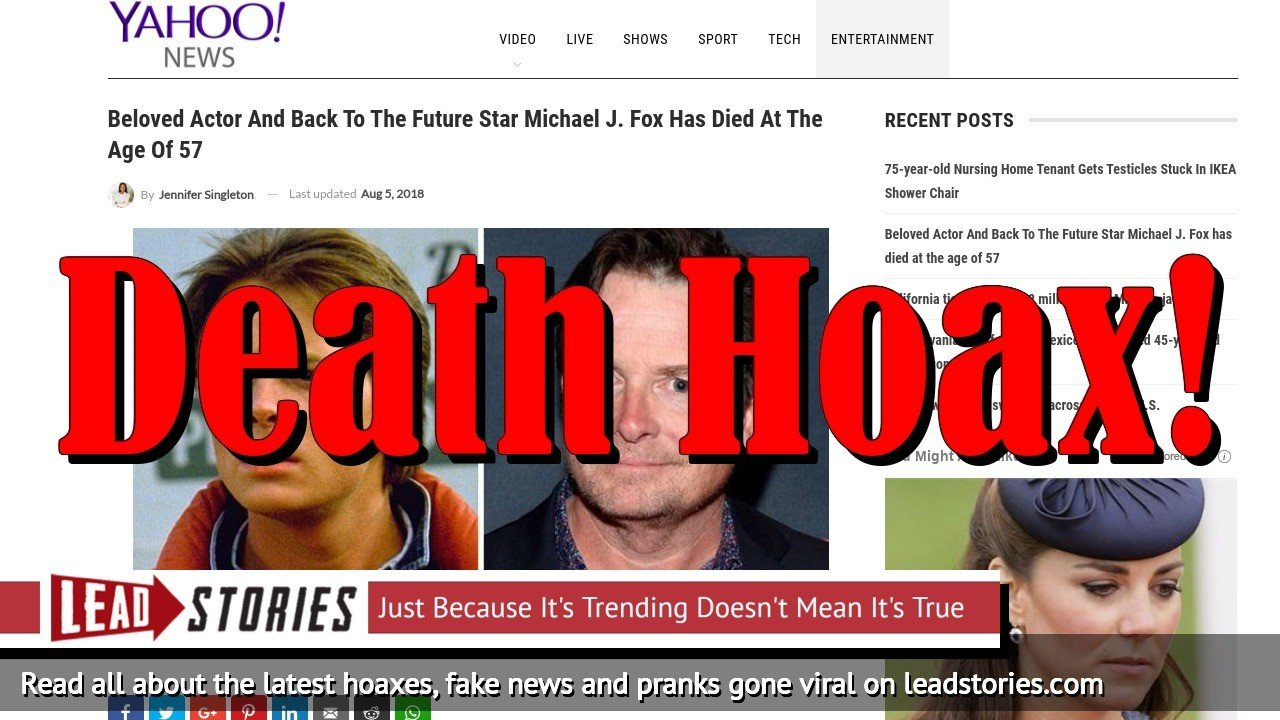 Screenshot of http://www.yahoonews-us.com/2018/08/04/beloved-actor-and-back-to-the-future-star-michael-j-fox-has-died-at-the-age-of-57/