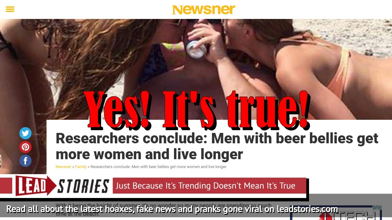 Screenshot of https://en.newsner.com/family/researchers-conclude-men-with-beer-bellies-get-more-women-and-live-longer/