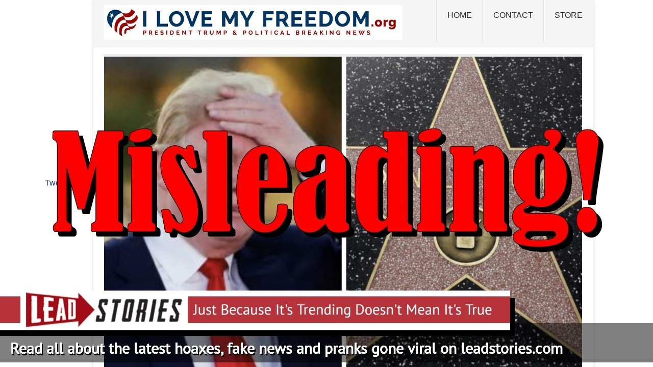 Screenshot of https://ilovemyfreedom.org/showdown-tonight-los-angeles-city-council-may-vote-to-remove-trumps-walk-of-fame-star/