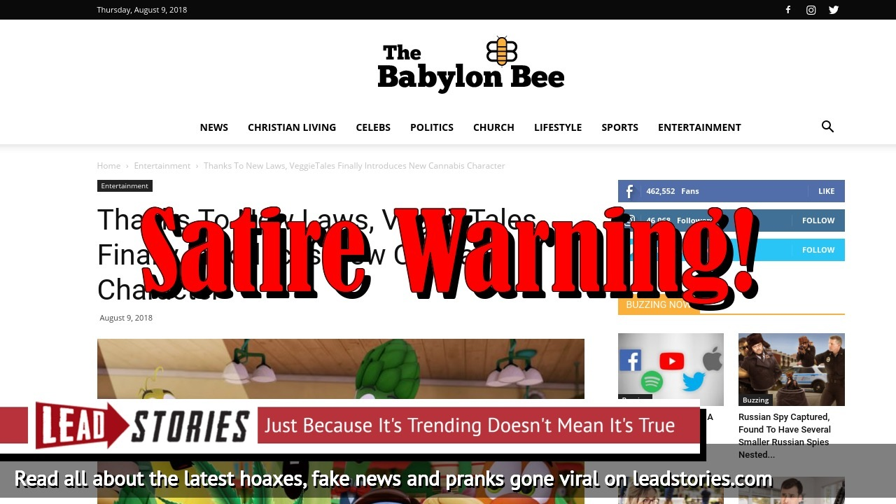 Screenshot of https://babylonbee.com/news/thanks-to-new-laws-veggietales-finally-introduces-new-cannabis-character/