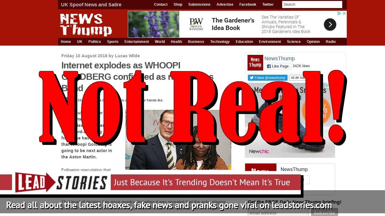 Fake News: Whoopi Goldberg NOT Confirmed As New James Bond