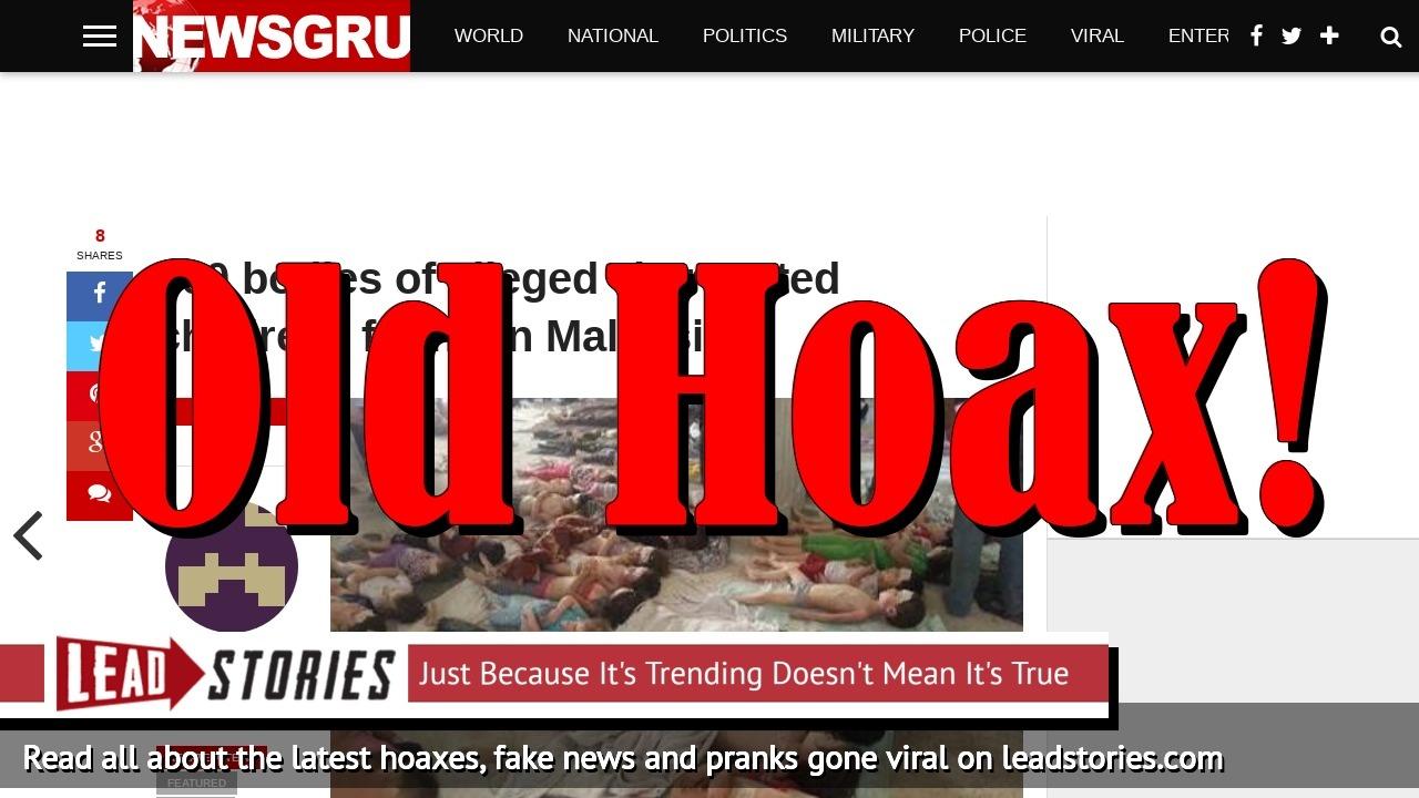Screenshot of https://newsgru.com/700-bodies-alleged-harvested-children-found-malaysia/
