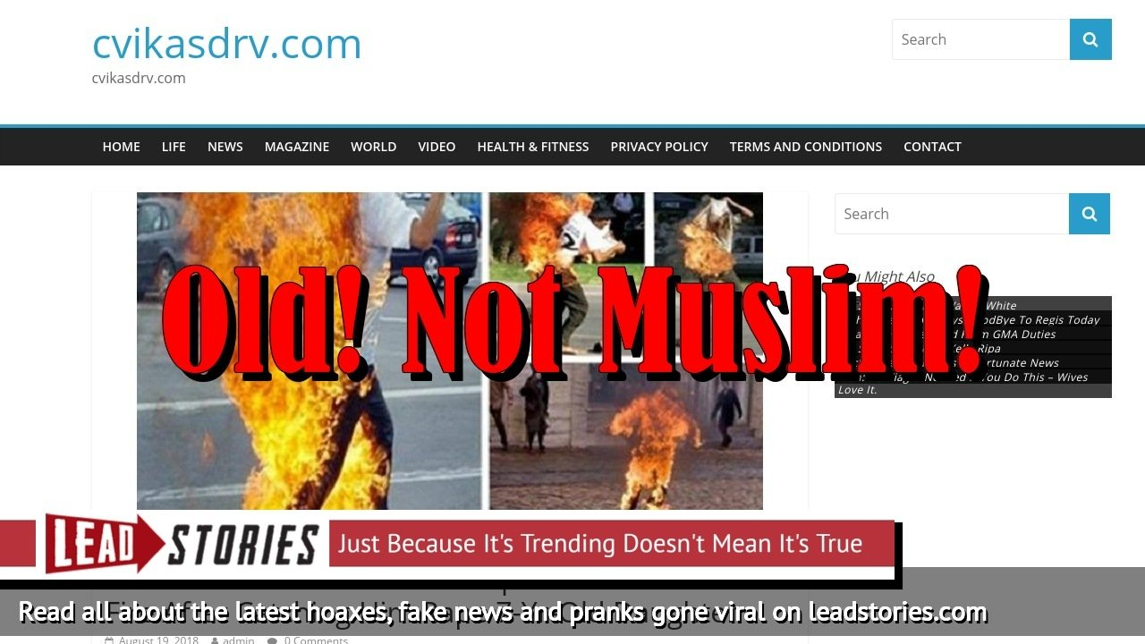 Screenshot of http://www.cvikasdrv.com/2018/08/19/breaking-woman-sets-pedophile-muslim-man-on-fire-after-catching-him-rape-7-yr-old-daughter/