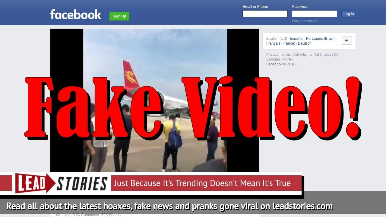 Fake News: Video Showing Airliner Flipping Over Before Landing In Typhoon Is NOT Real!