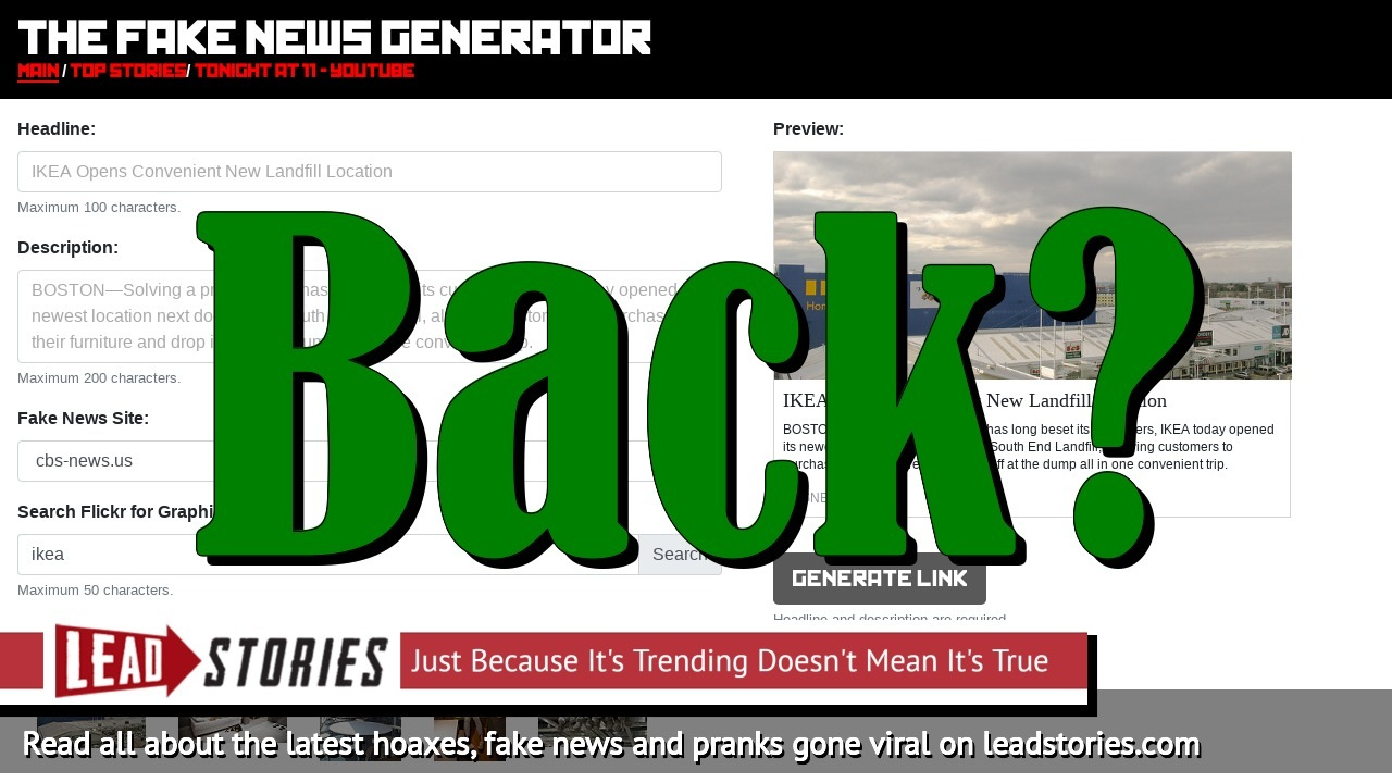 Is The Fake News Generator Back In Business?  -- It Took a Single Dash and $12 To Evade Filters