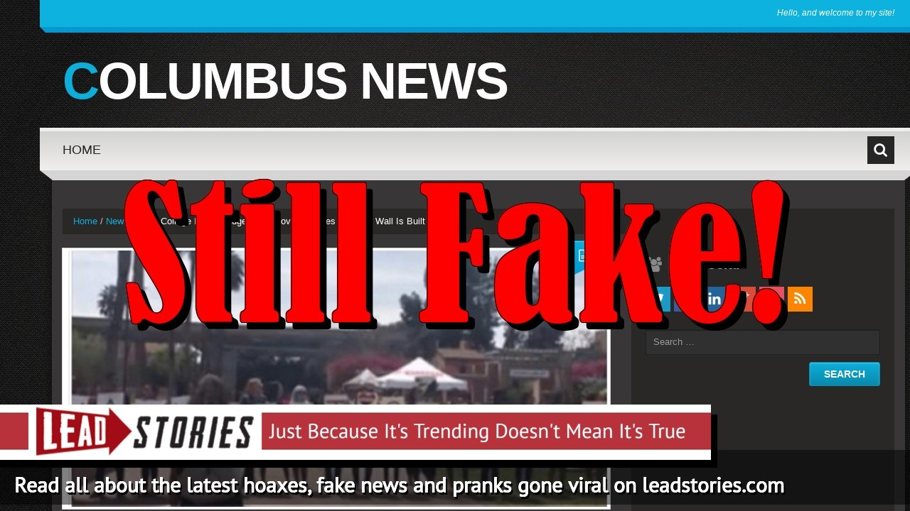 Fake News: NO College Boys Pledge To Remove Testicles If Trump Wall Is Built