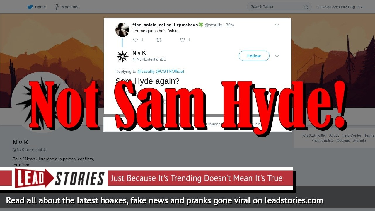 Fake News: Sam Hyde Is NOT The Pittsburgh Synagogue Shooter