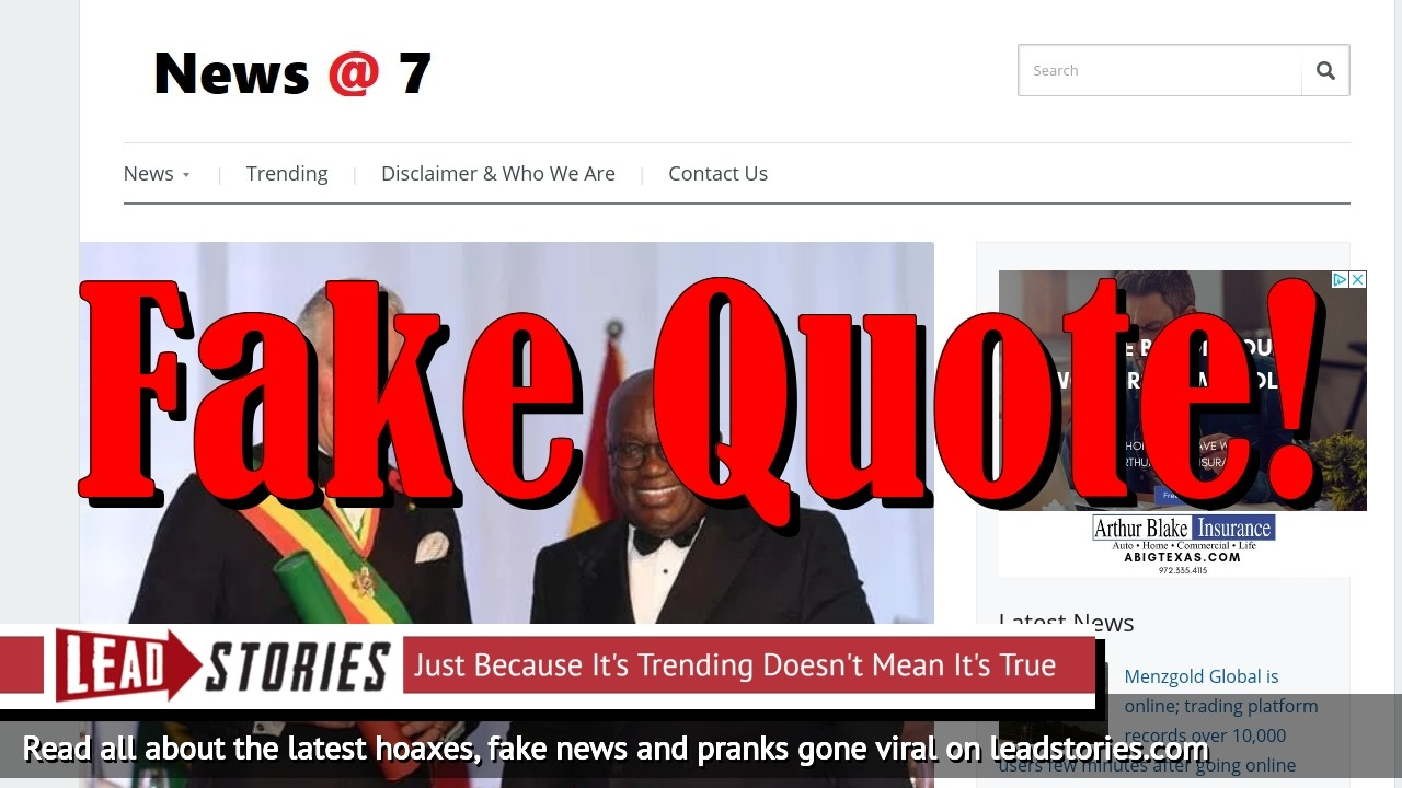 Fake News: Prince Charles Did NOT Say He Didn't Know Ghanaians Need Visas When Visiting UK, Did NOT Promise To Do Something About It