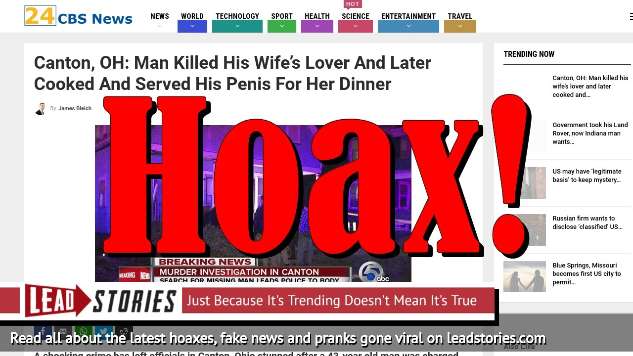 Screenshot of http://www.cbsnews24.com/2018/12/02/canton-oh-man-killed-his-wifes-lover-and-later-cooked-and-served-his-penis-for-her-dinner/