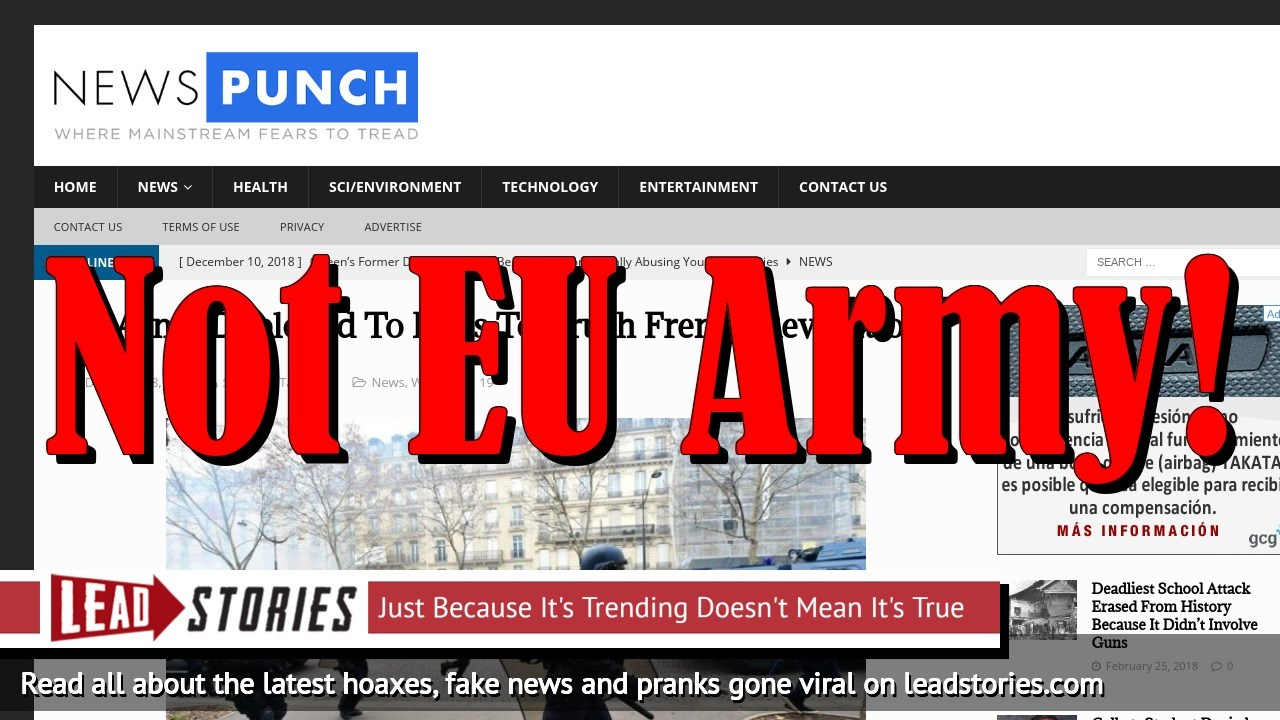 Fake News: NO EU Army Deployed To Paris To Crush French Revolution