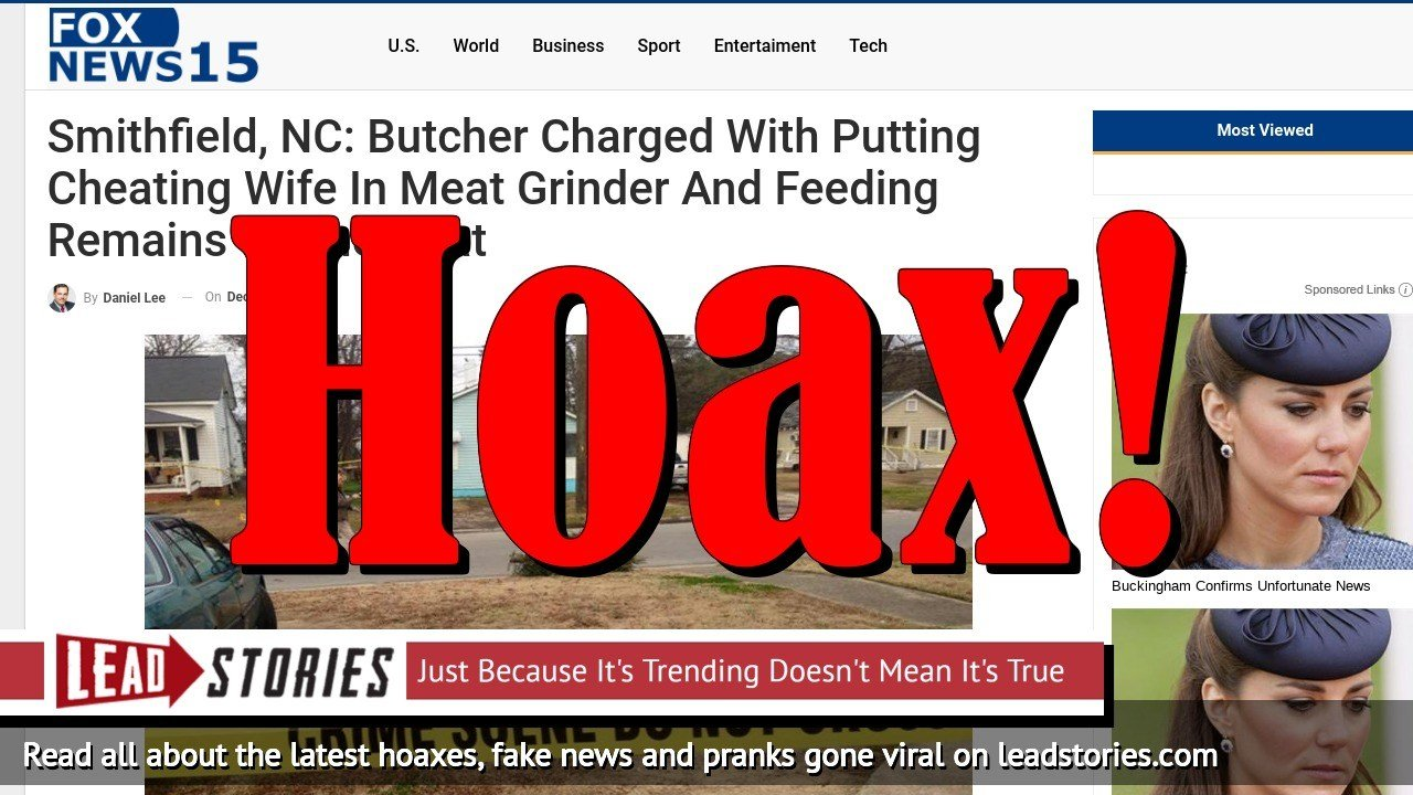 Screenshot of http://www.foxnews15.com/smithfield-nc-butcher-charged-with-putting-cheating-wife-in-meat-grinder-and-feeding-remains-to-their-cat/