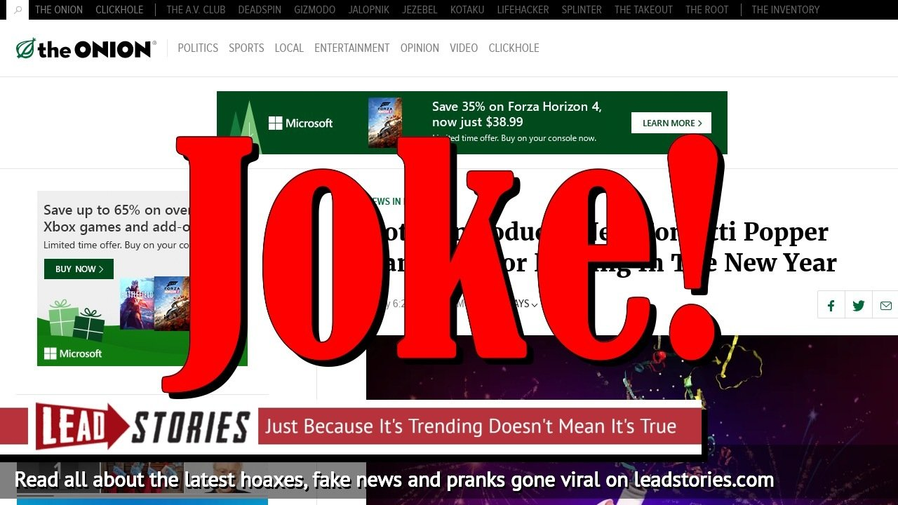 Fake News: Kotex Did NOT Introduce Confetti Popper Tampons For Ringing In The New Year