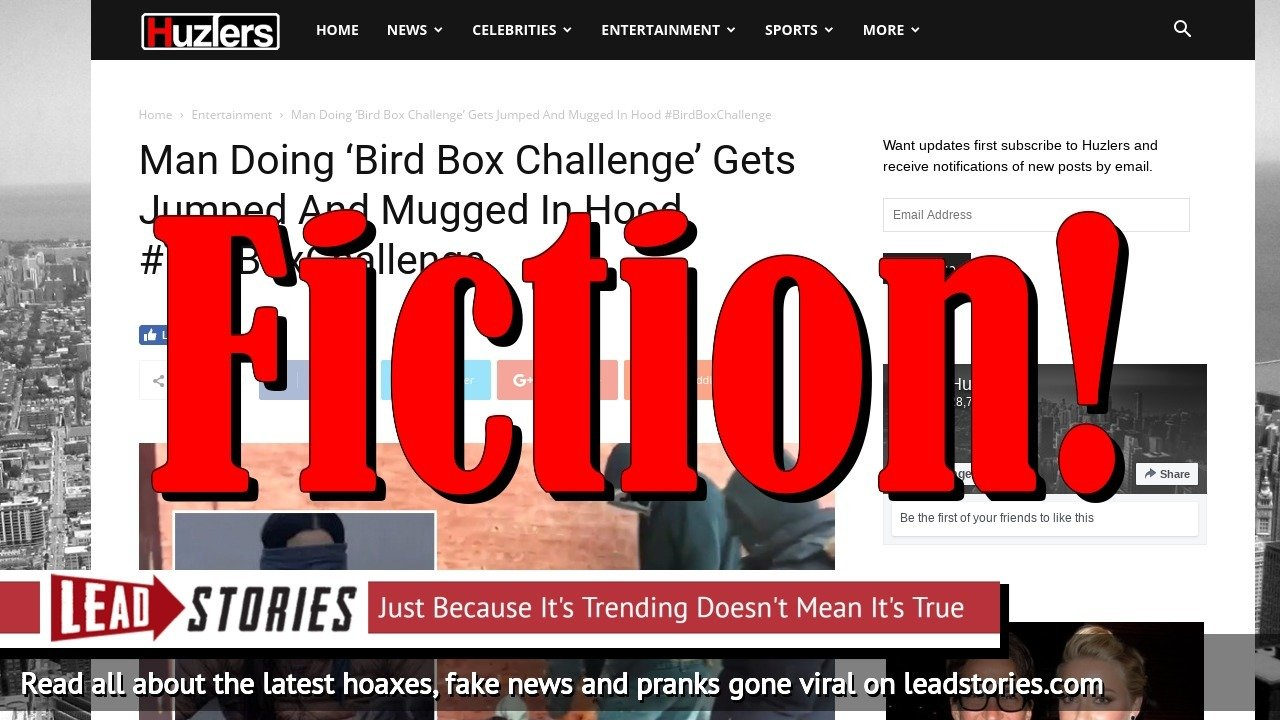 Screenshot of http://www.huzlers.com/man-doing-bird-box-challenge-gets-jumped-and-mugged-in-hood/