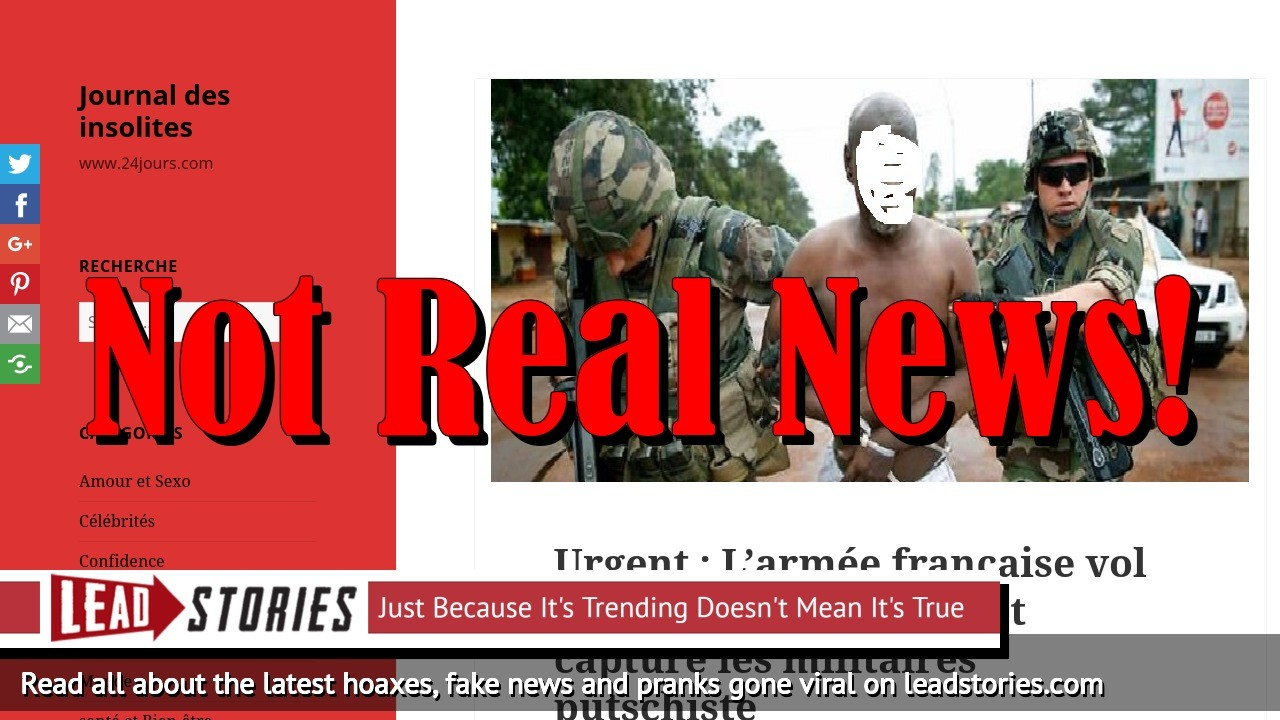 Fake News: French Army Did NOT Save President Ali Bongo in Gabon, Did NOT Capture Military Coup Leaders
