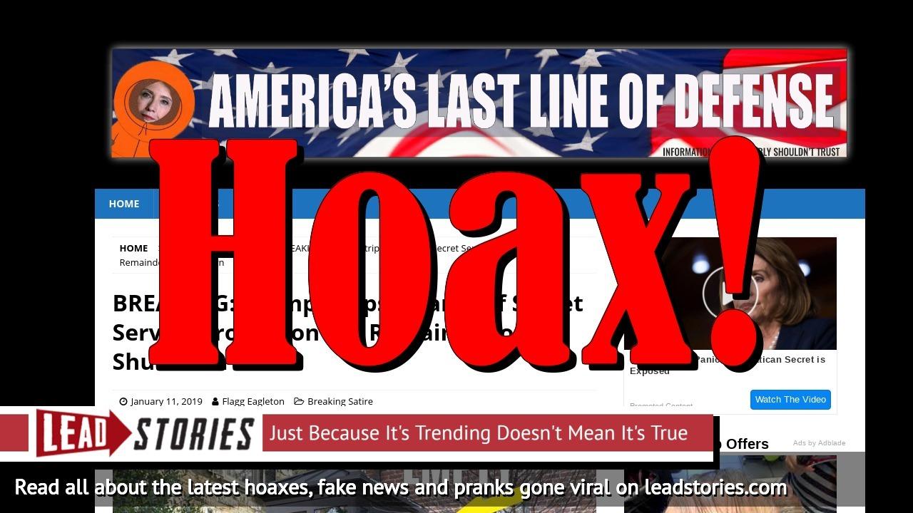 Screenshot of https://wearethellod.com/breaking-trump-strips-obama-of-secret-service-protection-for-remainder-of-shutdown/