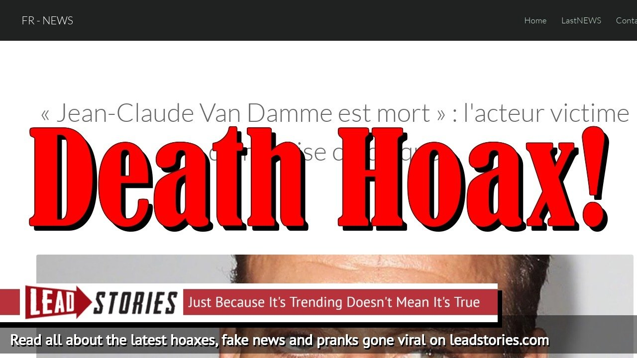 Fake News: Jean-Claude Van Damme NOT Dead, NOT Victim of Heart Attack