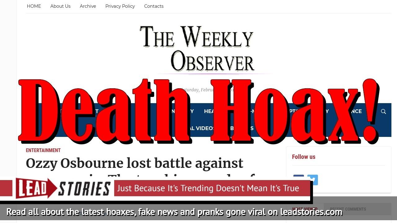 Screenshot of http://theweeklyobserver.com/ozzy-osbourne-lost-battle-against-pneumonia-the-touching-words-of-sharon-osbourne/65780/