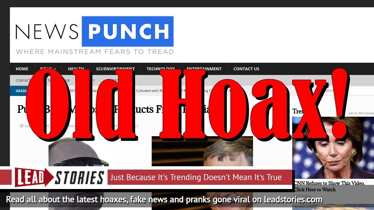 Screenshot of https://newspunch.com/putin-bans-microsoft-russia/