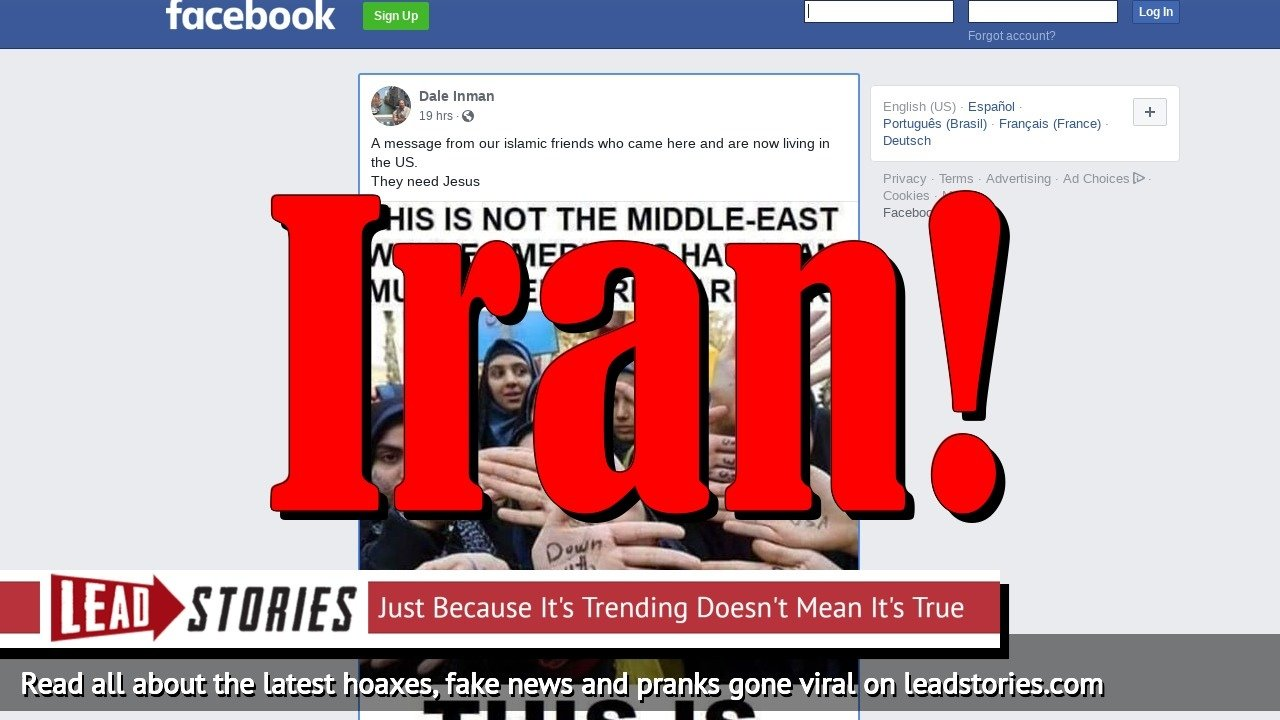 Fake News: Picture Does NOT Show Muslim Women in Michigan With `Down With USA´ Written On Their Hands