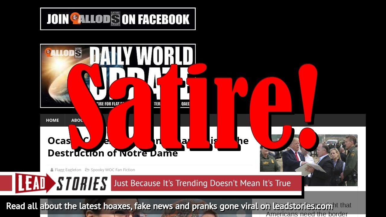 Screenshot of https://dailyworldupdate.us/ocasio-cortez-and-ilhan-omar-praised-the-destruction-of-notre-dame/