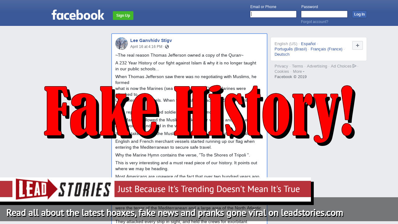 Fake News: The Real Reason Thomas Jefferson Owned A Copy Of The Quran Was NOT To Better Know His Enemy