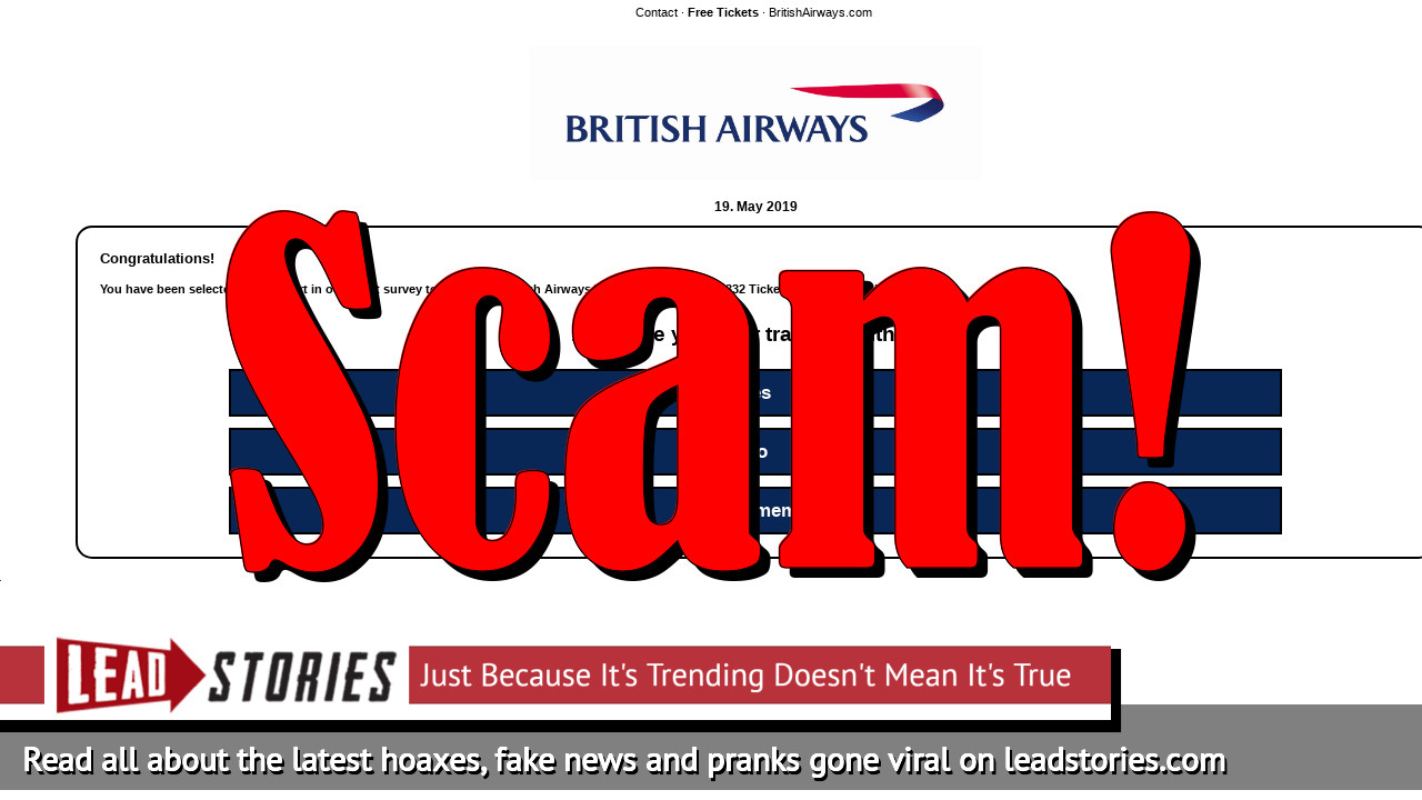 Fake News: British Airways Is NOT Gifting 2 FREE Tickets To All To Celebrate Their 45th Anniversary