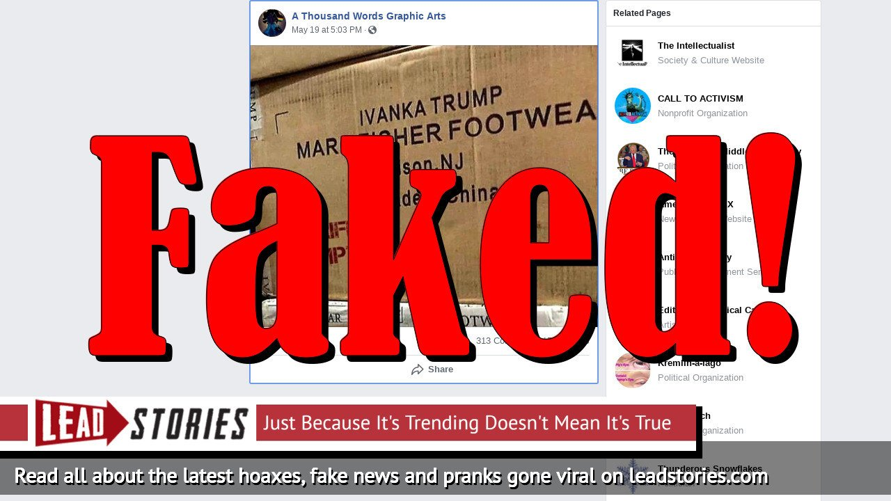 Fake News: Ivanka Trump's Made-In-China Marc Fisher Footwear Line Is NOT Exempt From Tariffs