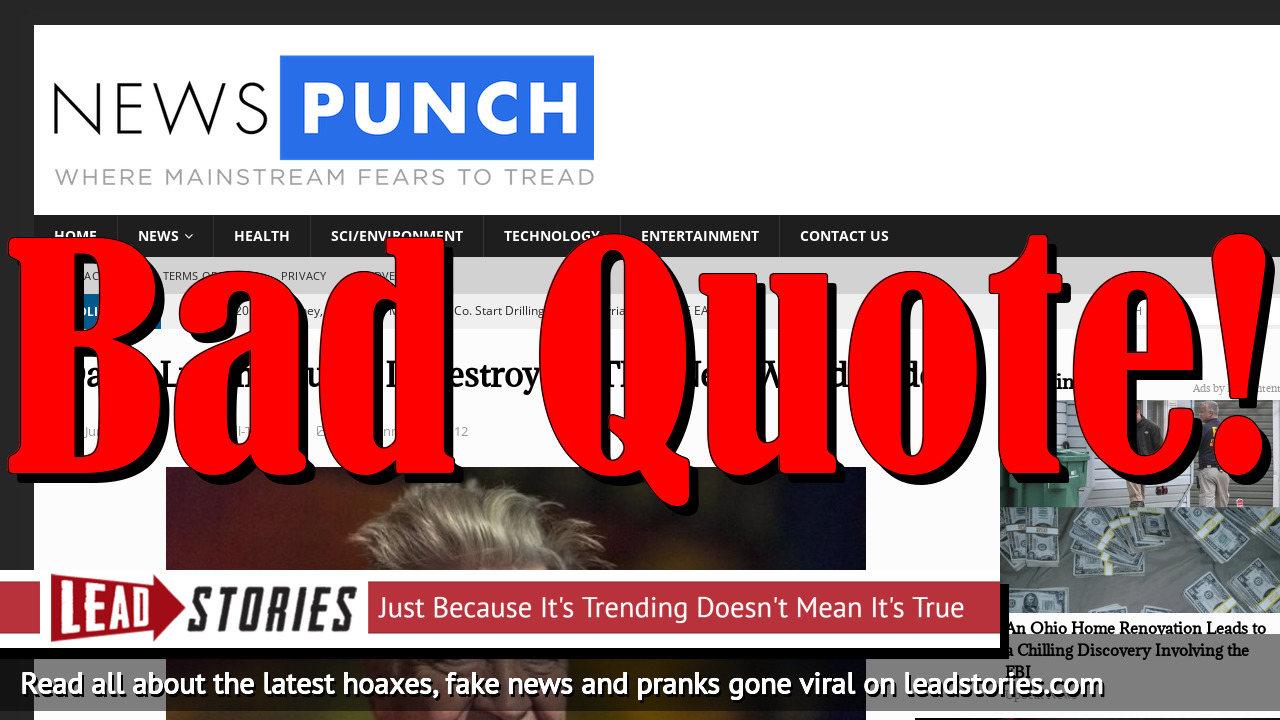 Screenshot of https://newspunch.com/david-lynch-trump-destroying-new-world-order/