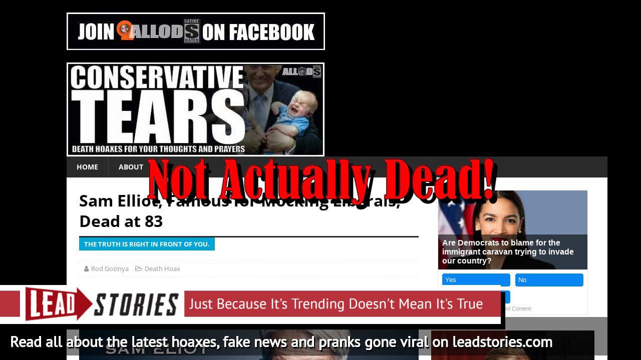 Screenshot of https://conservativetears.com/2019/07/14/elliot-not-elliott-get-it/