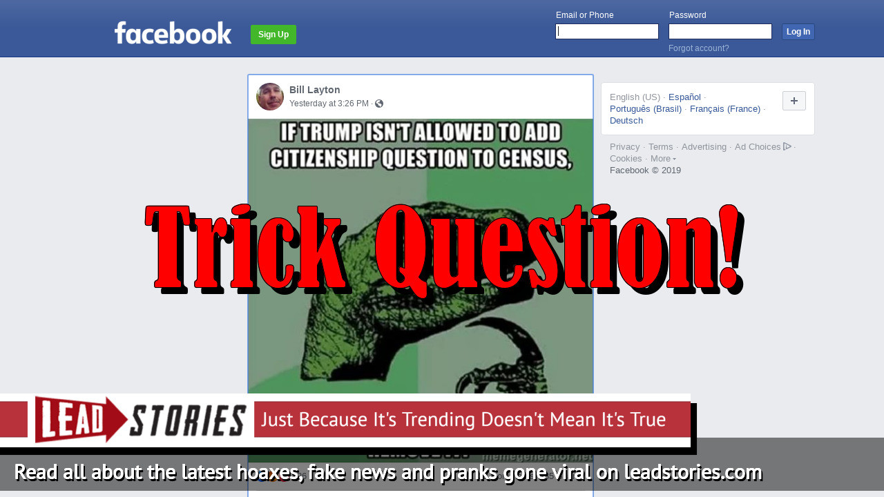 Fake News: Obama Did NOT Remove Citizenship Question From The U S
